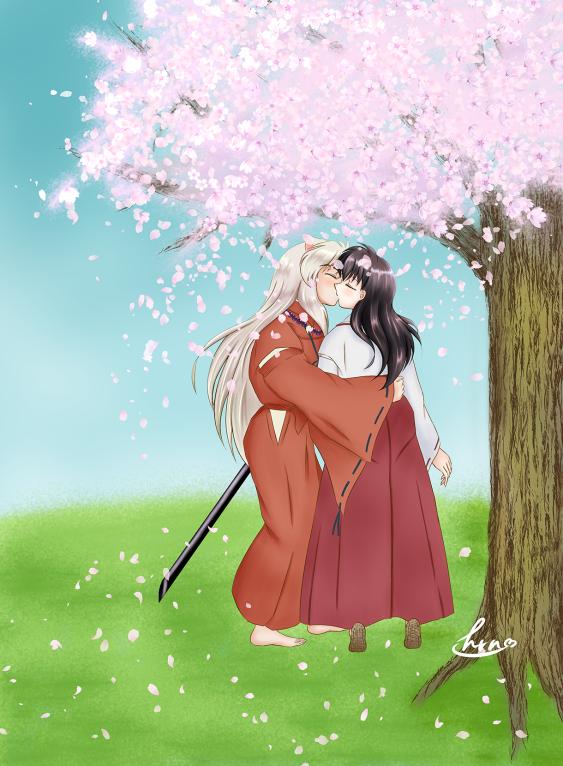 春の犬かごキス